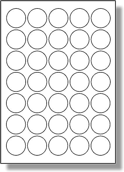 8 Par Foglio LP8//69 R. 80 Etichette 10 Fogli Label Planet/® Etichette di Carta Bianca A4 Rotonde per Stampanti a Getto dInchiostro e Laser 69mm Diametro