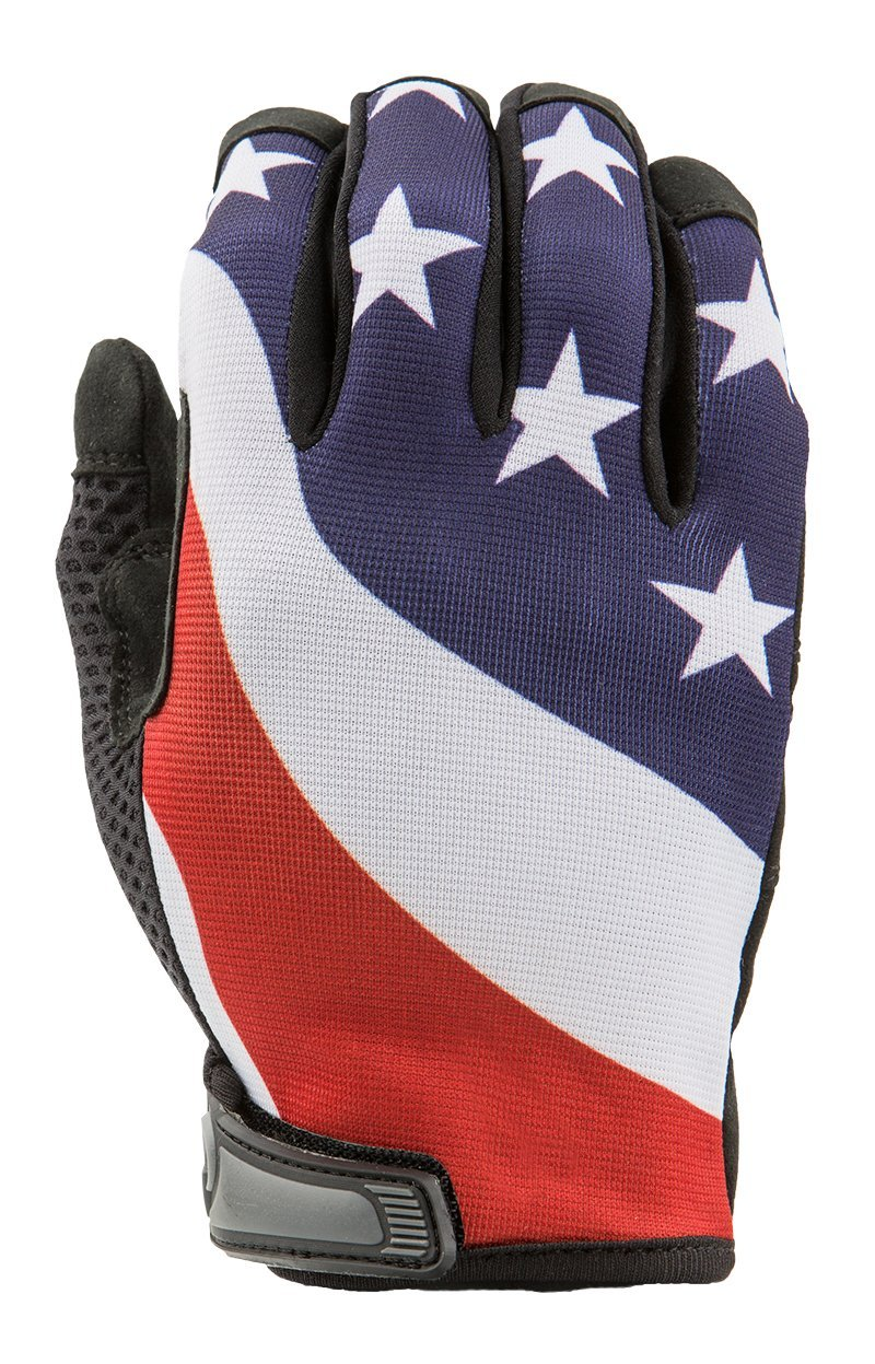 USA American Flag Gloves for Gym, Exercise, Cross Training, Driving, Cycling, and Multi-Use by Industrious Handwear