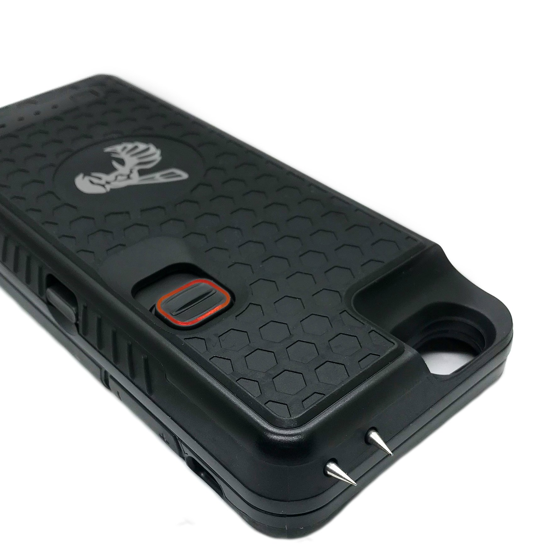 The Only High-Powered Stun Gun that Protects & Recharges Your iPhone 6/6s - Concealed Inside a Durable Weatherproof Case - Flexibility to Attach/Detach - 4.0mAh for Maximum Self Defense - Black