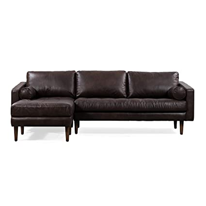 POLY & BARK Napa Left Sectional Sofa in Madagascar Cocoa