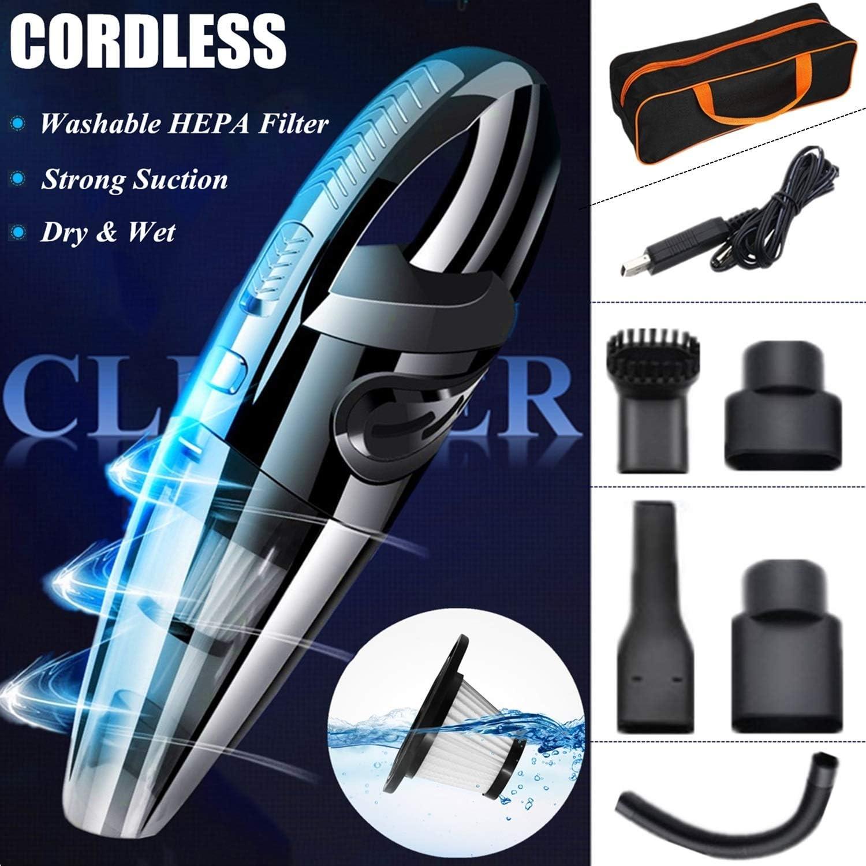 120 W portable wet/&dry Aspirateur Voiture Sans Fil Portatif Rechargeable Nettoyage