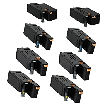 Compatible Toner Cartridges for Xerox Phaser 6000, 6010, Workcentre 6015  2Sets - 8pk (BCMY)