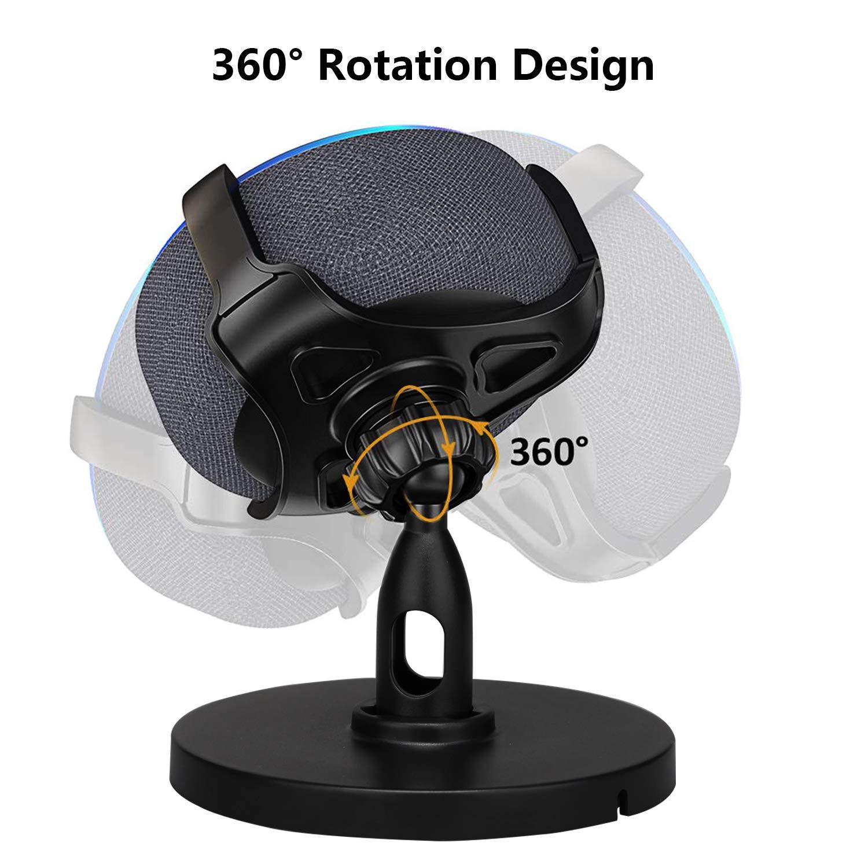 Timorn Supporto per Altoparlante Regolabile a 360/° con Protezione in Gomma Accessorio Compatibile con Dot 3 per un Suono pi/ù Pieno Supporto da Tavolo per Dot 3rd Generation
