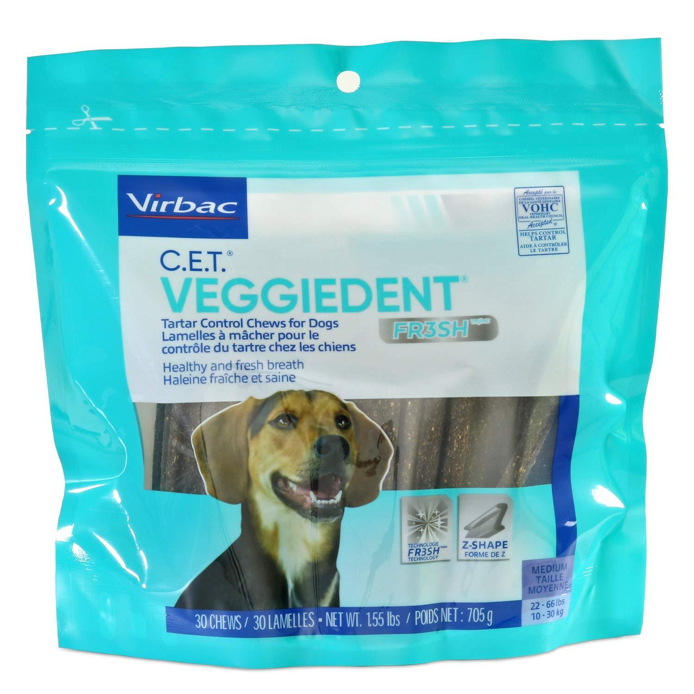 Virbac C.E.T. VeggieDent FR3SH Tartar Control Chews For Dogs, Medium by Virbac