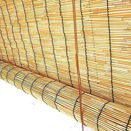 Cortina Parasol Cortina de Aislamiento térmico Persianas enrollables Cortinas de bambú Cortinas de láminas, Contraventanas de elevación anticorrosivas Impermeables for Exterior/Patio/Puerta, Opcio: Amazon.es: Hogar
