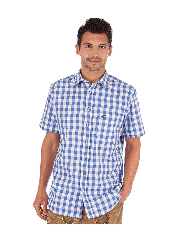 OS-Trachten German Traditional Shirt SONNBLICK Blue