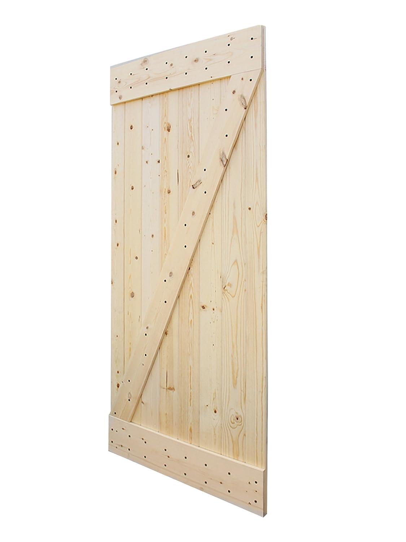 Amazon.com TMS 38u201d x 84u201d Solid Core Unfinished Plank Knotty Pine DIY Barn Wood Sliding Interior Door Home Improvement  sc 1 st  Amazon.com & Amazon.com: TMS 38u201d x 84u201d Solid Core Unfinished Plank Knotty Pine ...