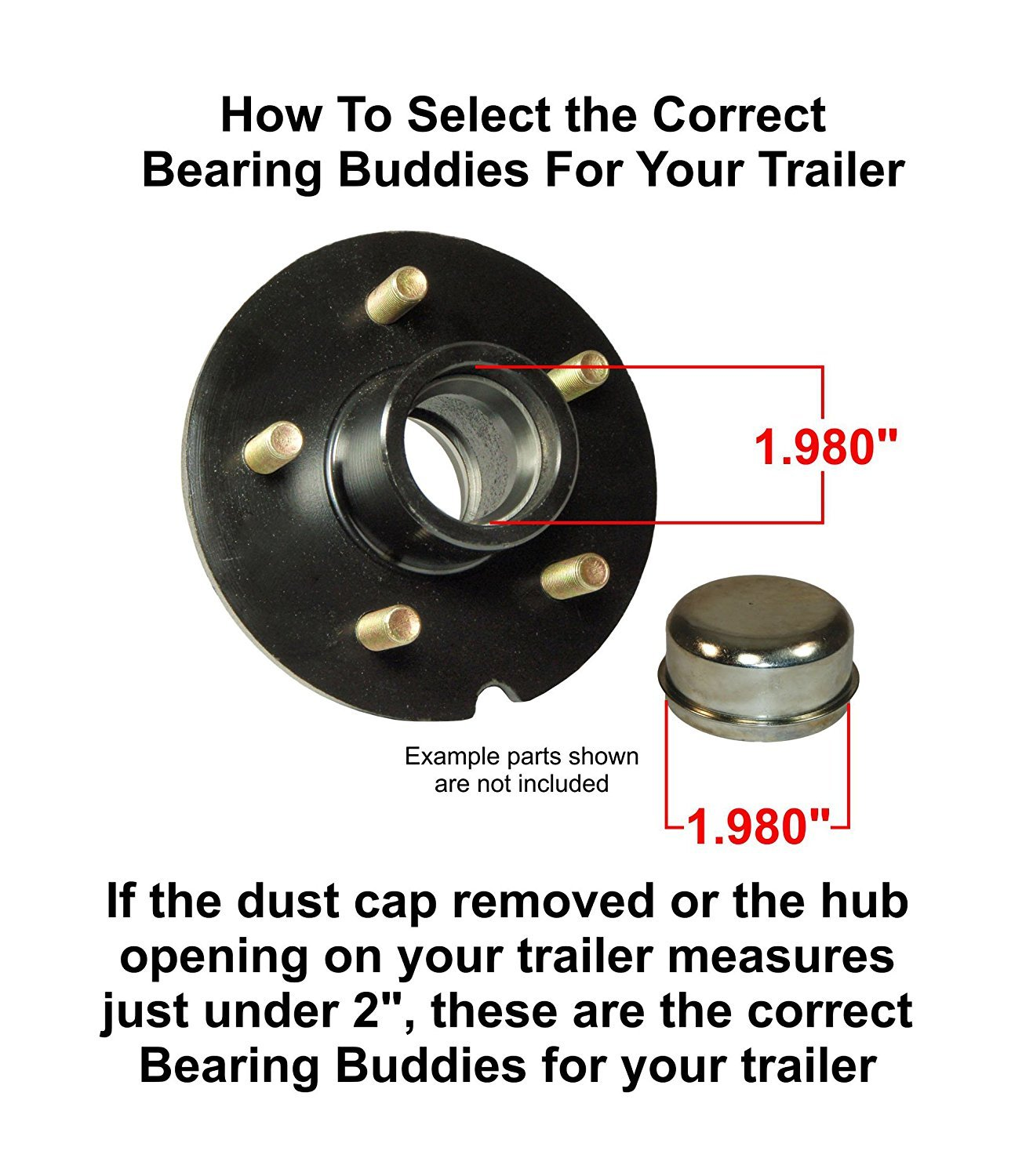 Genuine Bearing Buddy 1.980 Stainless Steel with Protective Bra /& Blue Auto Check Feature for Boat Trailer Wheel Center Caps 1980A-SS 42204 Bearing Buddy 2 1 Pair