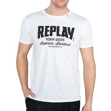 a8727c049601 Replay Basic T-Shirt  Amazon.de  Bekleidung
