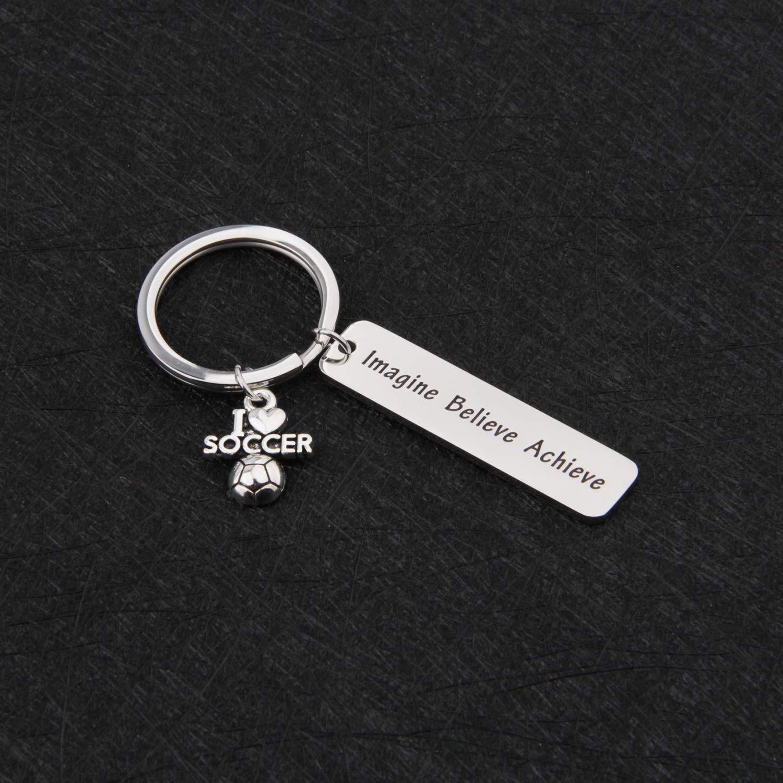 MYOSPARK Coach Keychain Soccer Coach Gift Soccer Keychain Soccer Player Jewelry Gift for Father Coach