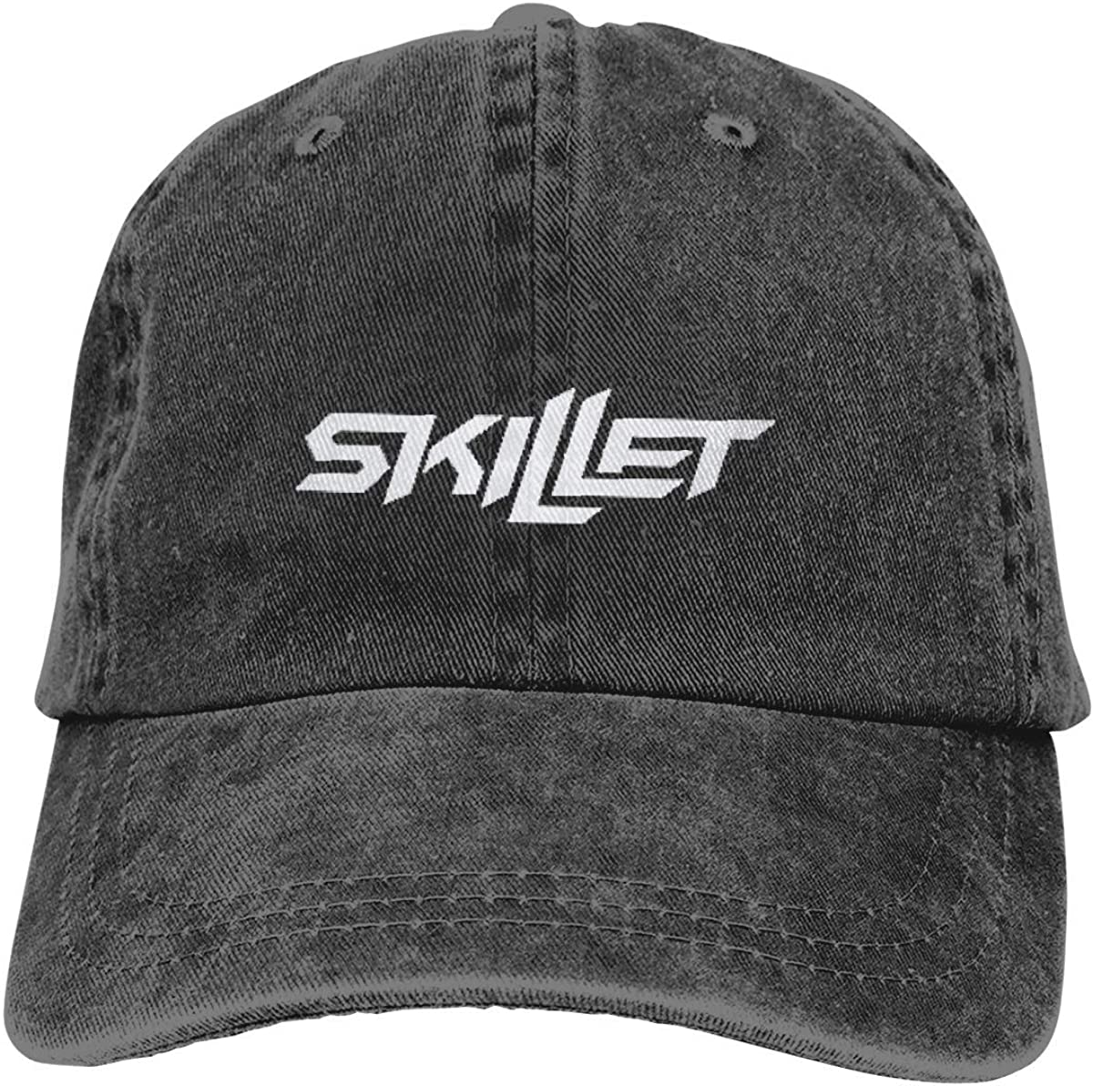 YINGSSMZ Skillet Sports Denim Cap Adjustable Snapback Casquettes Unisex Plain Baseball Cowboy Hat Black