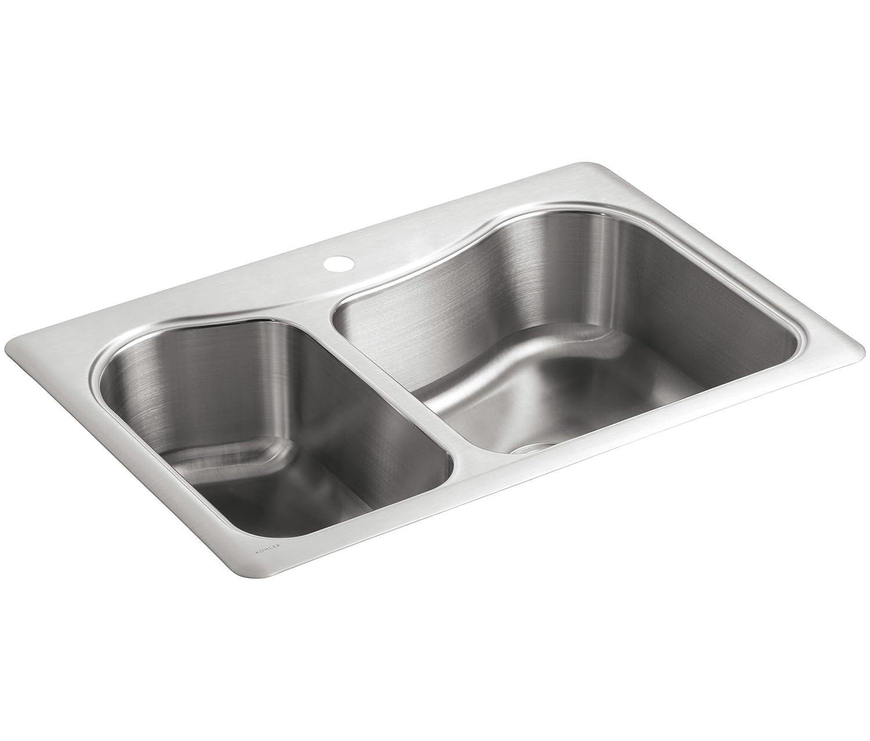 Kohler K 3361u20131 Na STACCATO Large/Medium Self Rimming Küche Spüle:  Amazon.de: Baumarkt