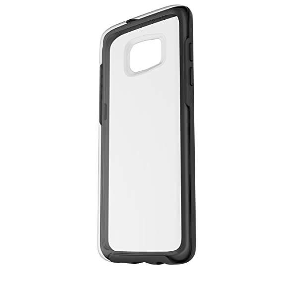 premium selection a849a aff60 OtterBox Symmetry Clear Series Case for Samsung Galaxy S7 Edge - Retail  Packaging - Black Crystal (Clear/Black)