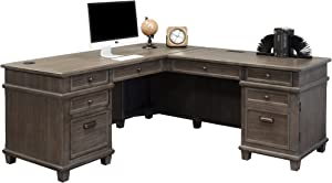 Martin Furniture Desk And Return, Weathered Dove