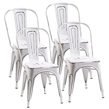 Distressed Metal Cafe Chairs Oracleshop Store