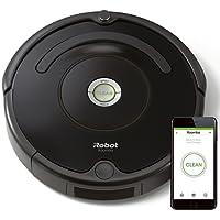 iRobot Roomba 671 Robot Aspirapolvere, Sistema di Pulizia ad Alte Prestazioni con Dirt Detect, Adatto a Pavimenti e Tappeti, Adatto per i Peli degli Animali Domestici, con Connessione Wi-Fi, Nero