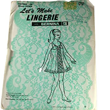 Amazon.com: Let\'s Make Lingerie with Bernina 330 Sewing Pattern ...