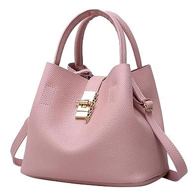 f737923a1beee TUDUZ Handtaschen Damen Mode Taschen Leder Schultertaschen Umhängetaschen  Handtaschen für Frauen (Rosa)