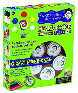 Crazy Aarons Mixed By Me Glow In The Dark Thinking Putty Kit Amazon