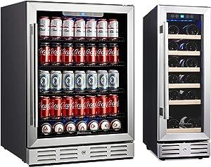 Kalamera 18 Bottle Wine Cooler & 154 Cans Beverage Cooler