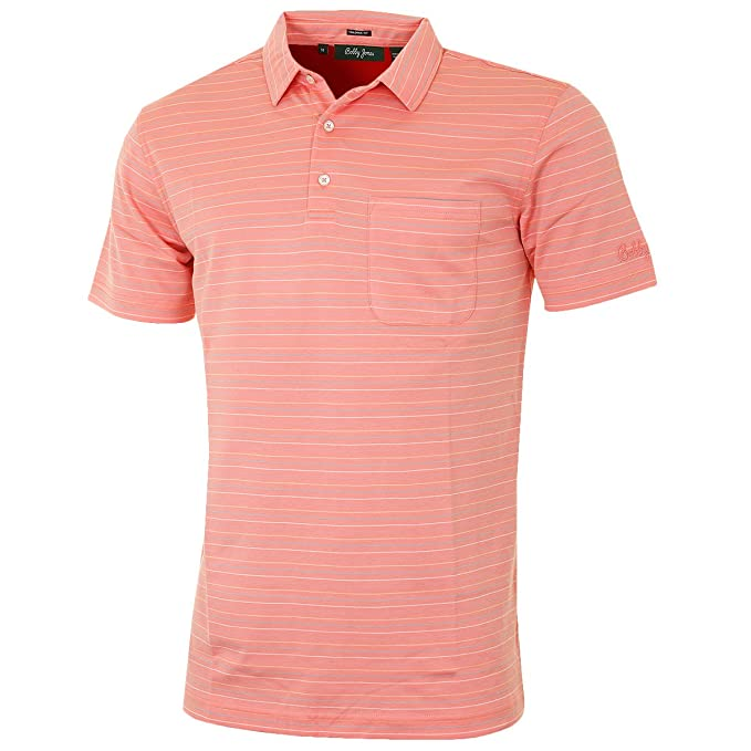 a80349a9532e Bobby Jones Herren Supreme Cotton Ozean-Streifen Golf-Polo-Hemd  Amazon.de   Bekleidung