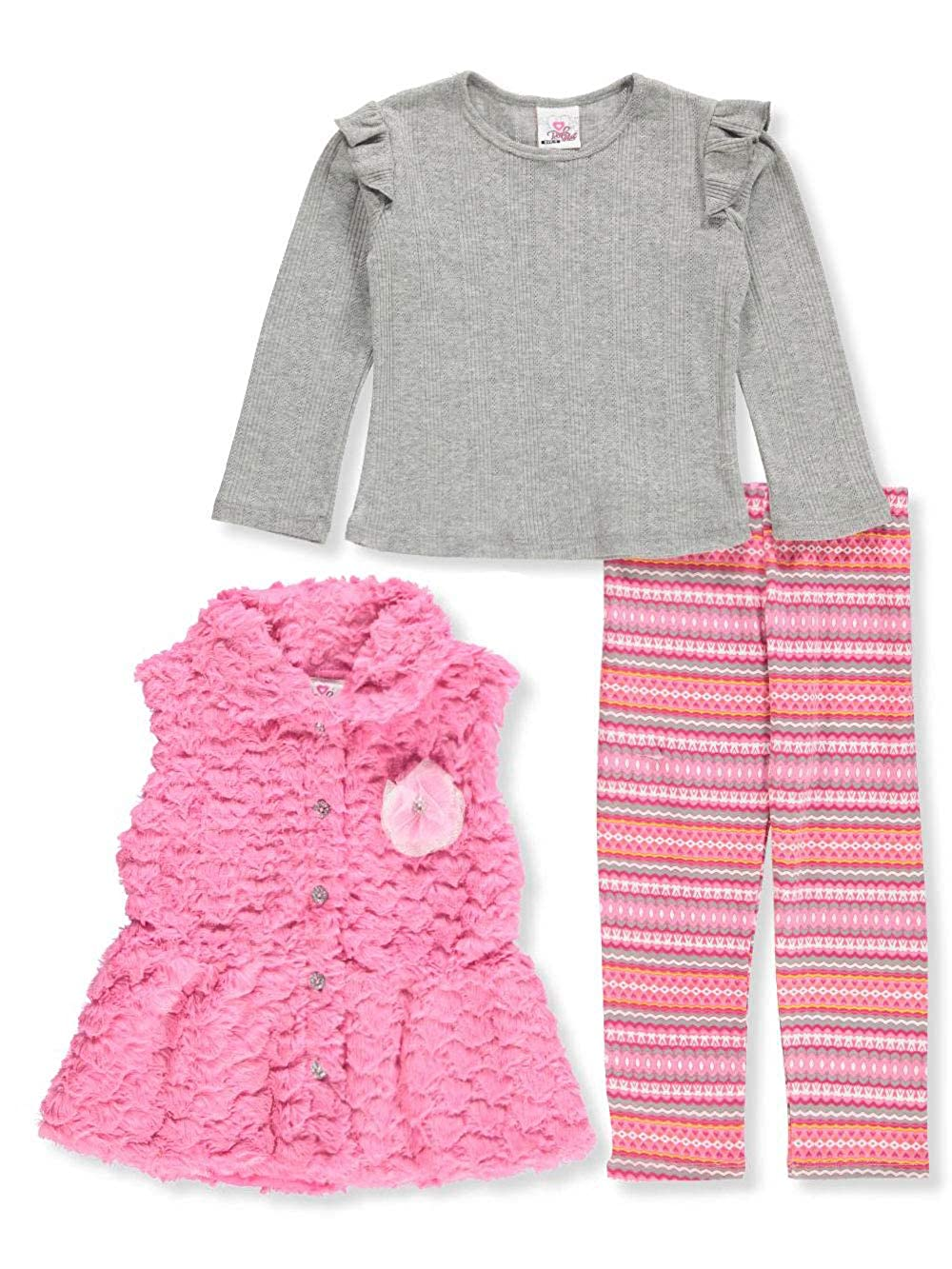 Real Love Girls' 3-Piece Leggings Set Outfit