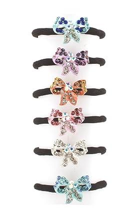 Amazon.com  MoDA Hair Ponyo with Sparkling Man Made Diamonds Set of 12  Assorted Colors  Clothing c61a2694c11