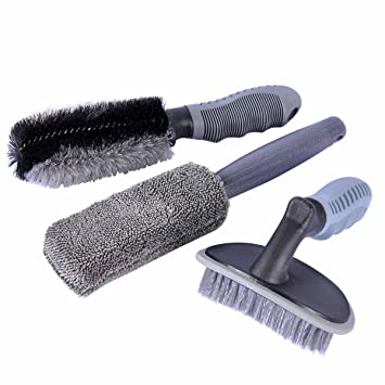 Wheel Cleaning Brush Alloy Wheel Cleaning Brush Combination 2 Packs Car Tire Brush Cleaning Motorcycle Or Bicycle Tire Brush Cleaning Tool