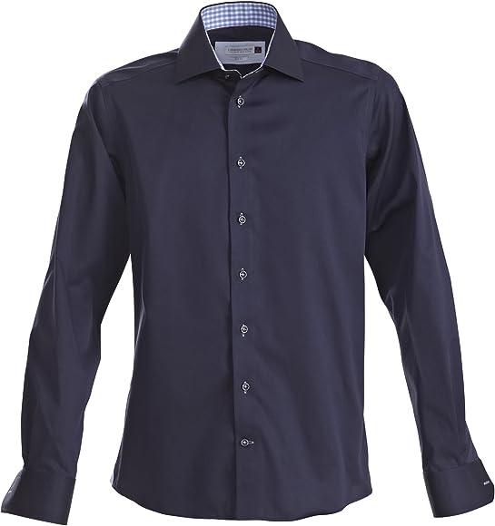 J Harvest & Frost - Camisa formal tallaje regular Modelo Red Bow hombre caballero (Pequeña (S)/Azul marino/Azul cielo): Amazon.es: Ropa y accesorios