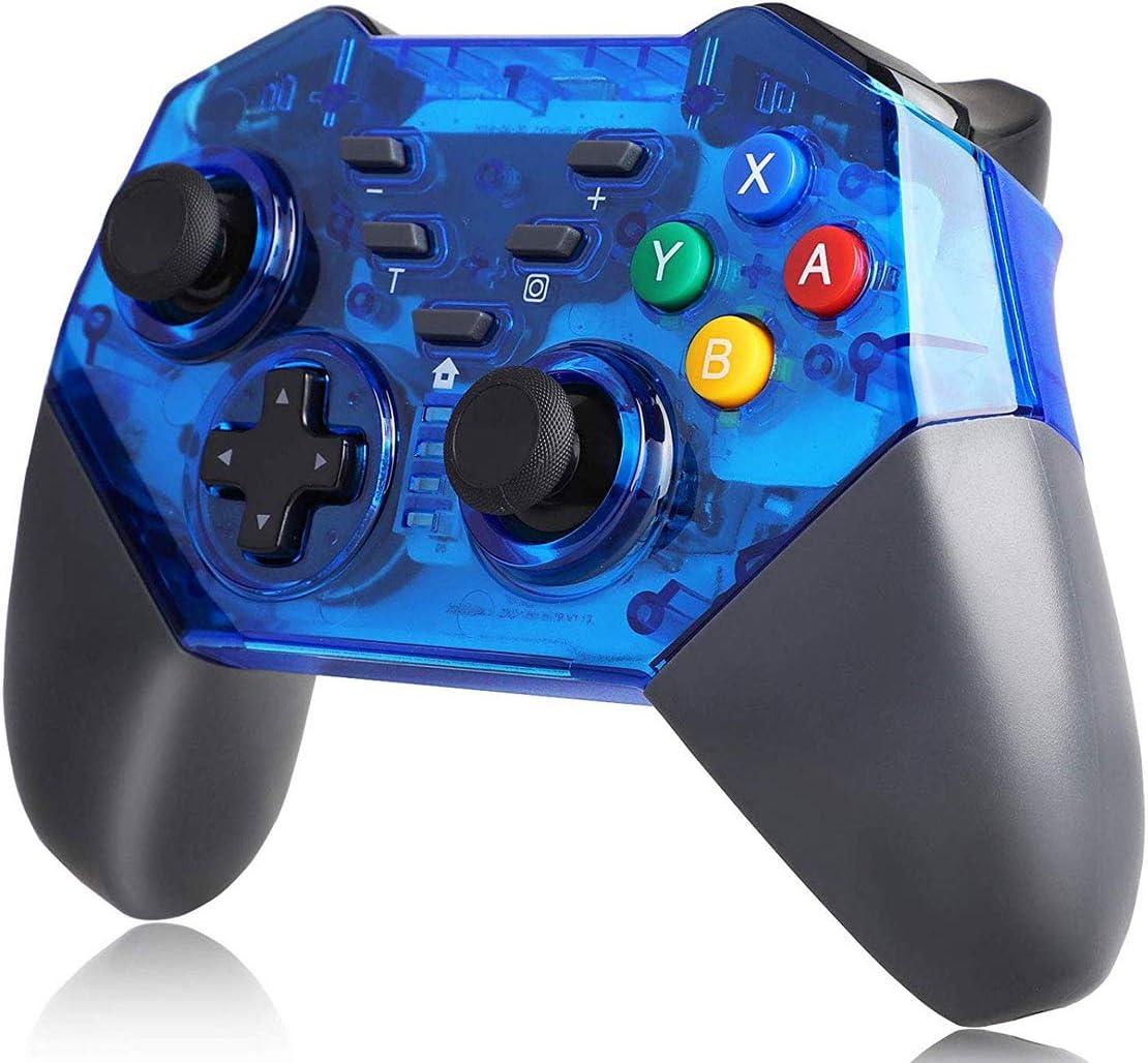 TUTUO Controlador inalámbrico para Nintendo Switch Bluetooth Joystick Mando Gamepad Dual Motor Axis Gyro Turbo Compatible con Nintendo Switch