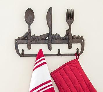 Perchero de pared de hierro fundido para cocina - Old ...