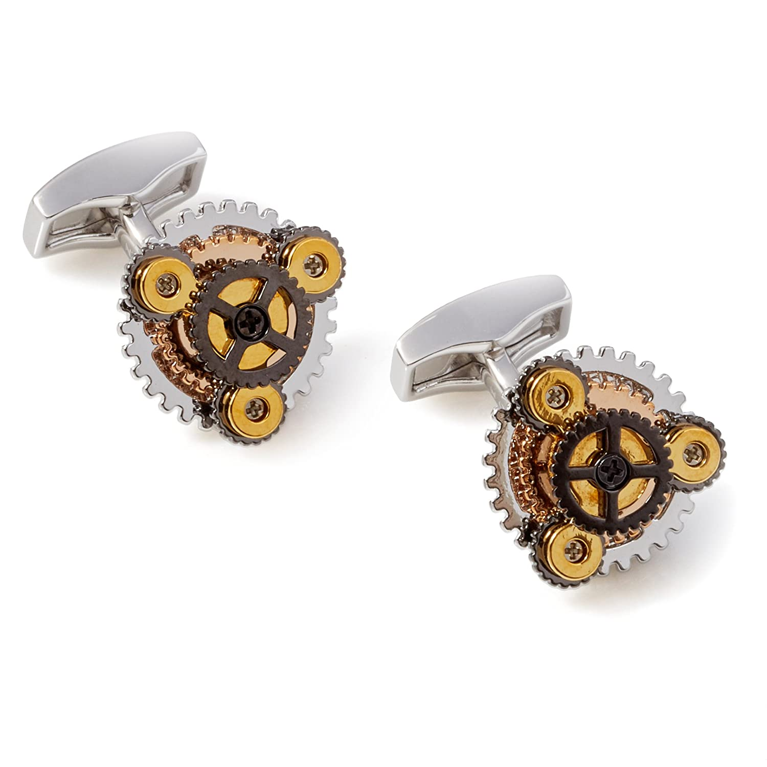 Tateossian Silver Rotondo Gear Cufflinks CL3959