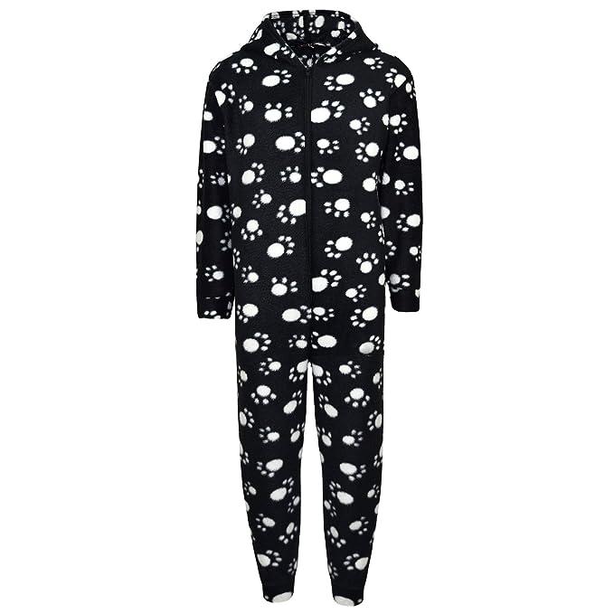 feb86c77e Amazon.com: Unisex Kids Girls Boys Paw Print Hooded Stylish Fashion Onesie  New Age 2-6 Years: Clothing