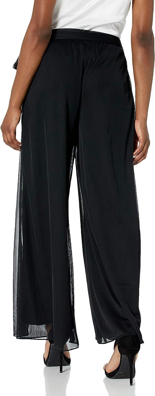 Black Mesh Tie Alex Evenings Womens Dress Pants Petite and Regular SP