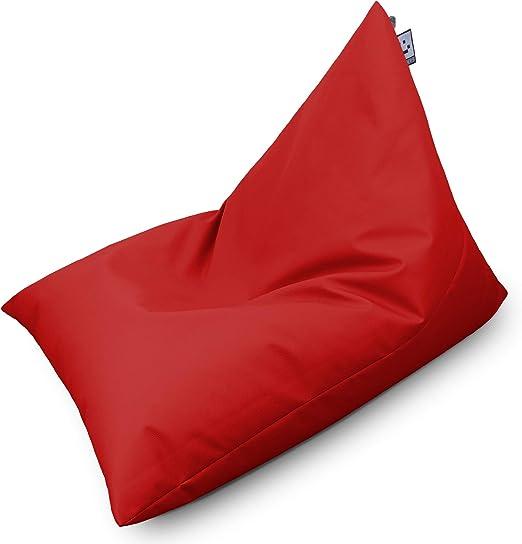 HAPPERS Puff Pirámide XL Polipiel Indoor Rojo: Amazon.es: Hogar