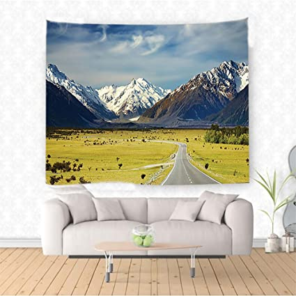 Amazon Com Nalahome Apartment Decor Landscape With Road And Snow
