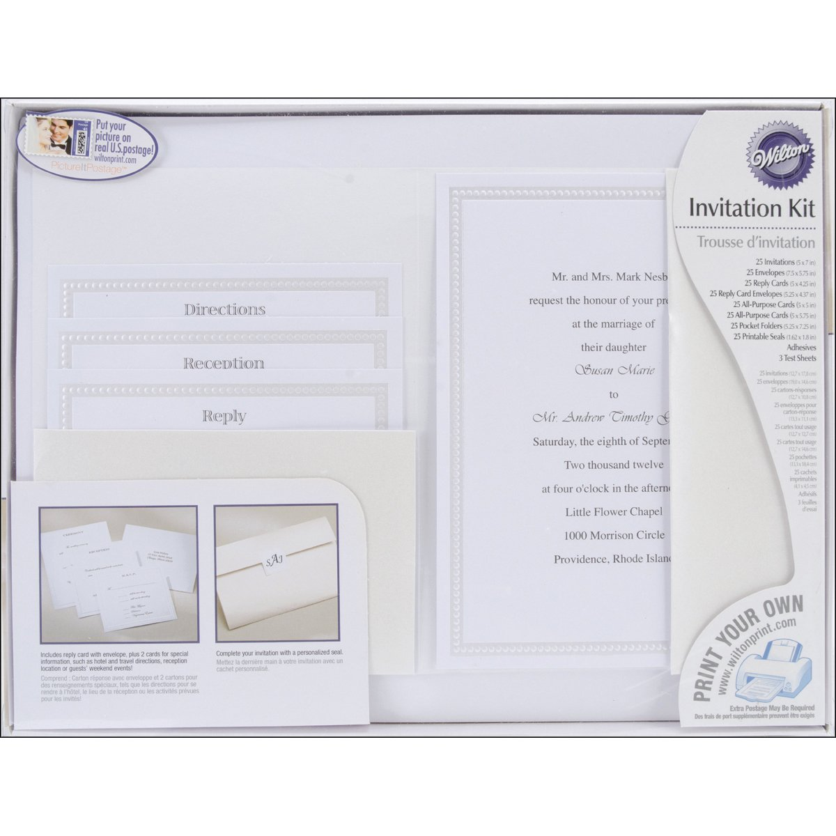 Amazon.com: Wilton String of Pearls Pocket Invitation Kit: Kitchen ...