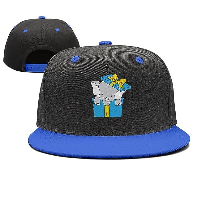0924c5d3d35 Custom Elephant Inside A Gift Package Visor Hats Adjustable Cheap ...