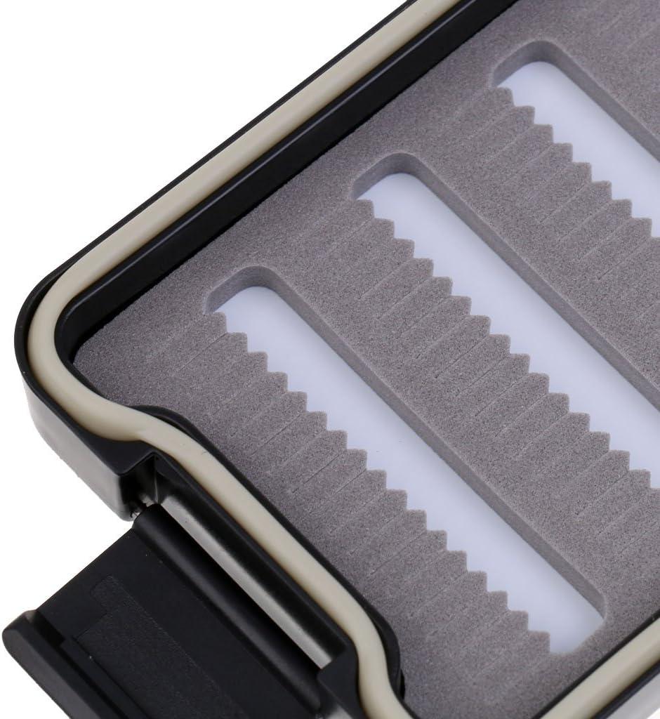 CUTICATE Tasche Wasserdicht Schlitz Schaum Fliegen Fischen Box Doppelte Seite Fliegenbox Mit Lanyard