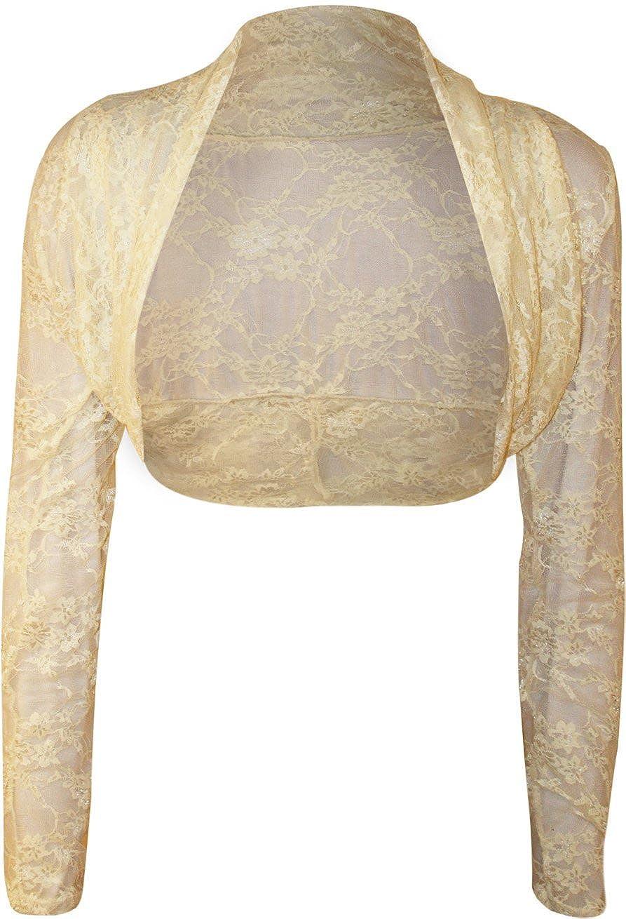 Bol/éro /à manches longues en dentelle Femmes Taille unique 36 /à 40 Cardigan WearAll