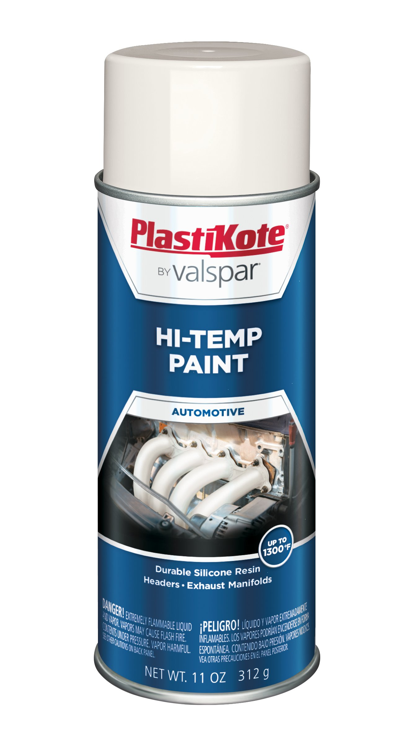 PlastiKote HP-12 White Hi-Temp Paint - 11 Oz.