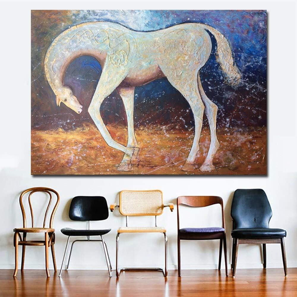 YuanMinglu Arte Abstracto campeón Caballo Imagen póster en Sala Lienzo Pared Arte Mural sin Marco Pintura 30x40cm
