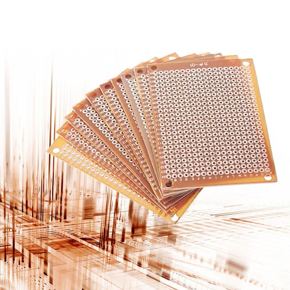 Prototipo PCB para Bricolaje Circuito Placa Universal de una Cara Papel Impreso Circuito Placa de Grosor Chen0-super 10 Piezas 5 x 7 cm Acabado Soldado