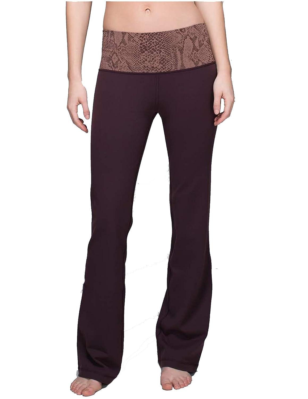 2a14a39d94c Lululemon Groove Pant IIFull-On Luon (Roll Down Regular) - Black  Cherry/Desert Snake Bark Berry Multi Size 6 at Amazon Women's Clothing  store: