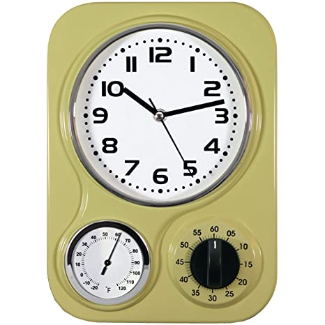 Exceptionnel Northpoint 162097 Kitchen Clock With Temperature And Timer