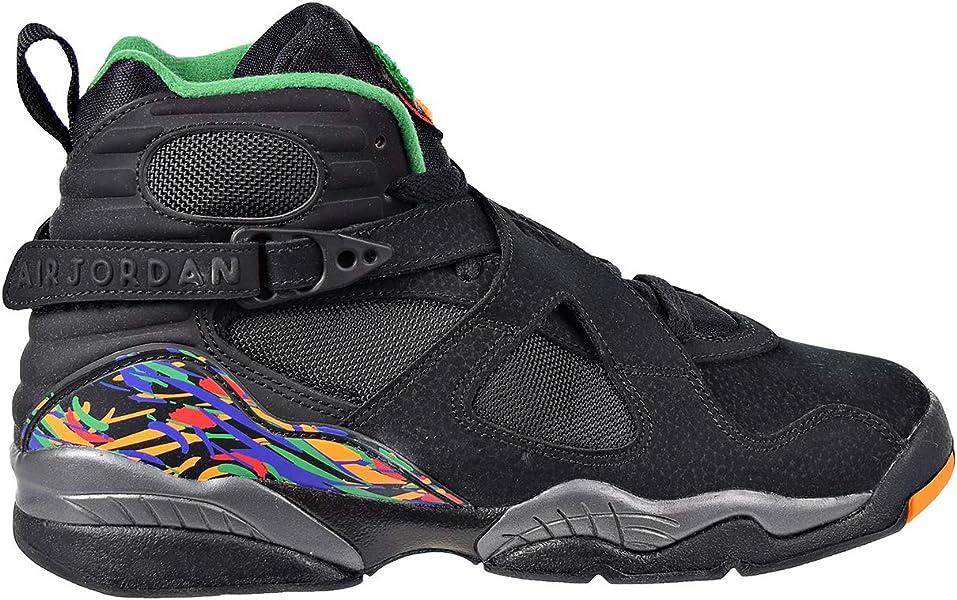 Air Jordan 8 Retro Big Kids  Shoes Black Light Concord Aloe Verde 305368 d6ffb6f88