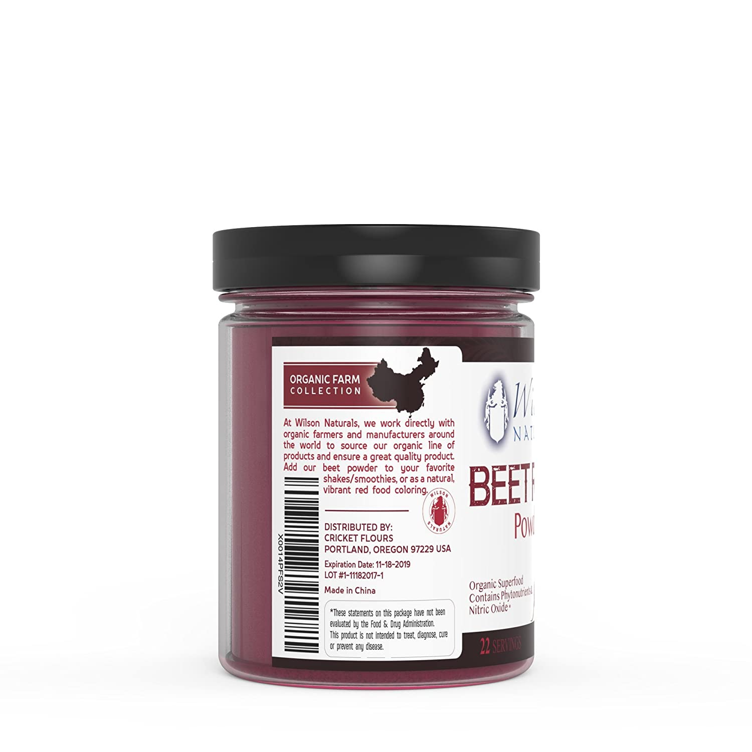 Amazon.com: Wilson Naturals Organic Beet Root Powder Superfood (Non ...