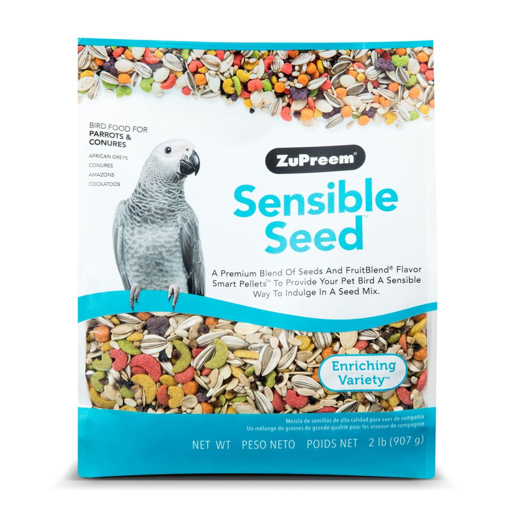 Sensible Seed Bird Food for Parrots & Conures by ZuPreem - 2 lbs (907g) by ZuPreem