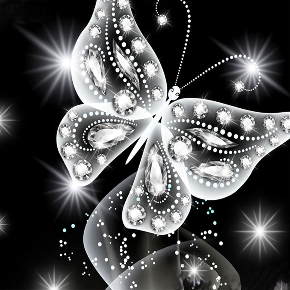 Kreuzstich 8166 Diamantgemälde Motiv Schmetterling WFZ17 Kreuzstich-Set handgefertigt 25cm x 25cm