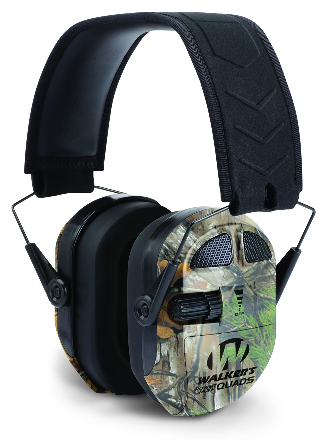 Walker's Ultimate Power Muff Quads with AFT/Electric, Realtree Xtra Camo